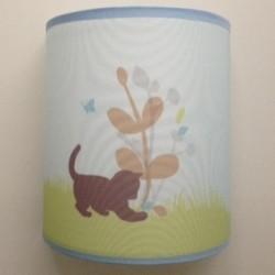 applique bleue chaton lili pouce boutique d co chambre b b enfants et cadeaux personnalis s. Black Bedroom Furniture Sets. Home Design Ideas