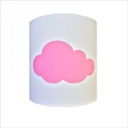 Applique nuage rose personnalisable, 8323803, 8323803, Applique sissi nuage rose fond blanc