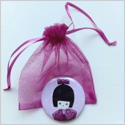miroir de poche kokeshi fille 2 | Lili Pouce : stickers, appliques ...