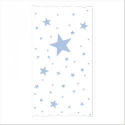 rideau sissi oscar etoiles bleu ciel fond blanc lili. Black Bedroom Furniture Sets. Home Design Ideas
