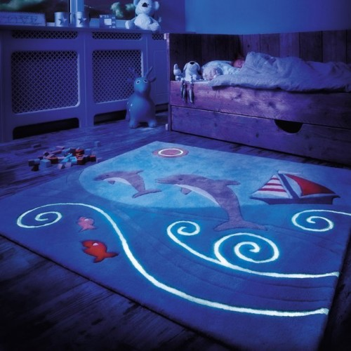 Tapis enfants luminescents arte espina for Tapis chambre enfant