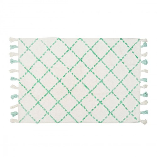 Tapis motifs graphiques en coton